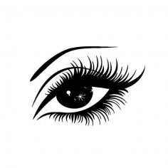 Eye silhouette vector dxf File