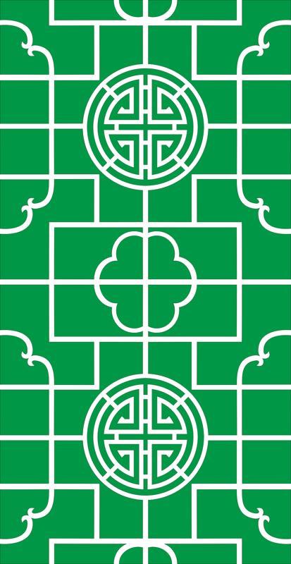 Circular geometric hollow pattern Free Vector