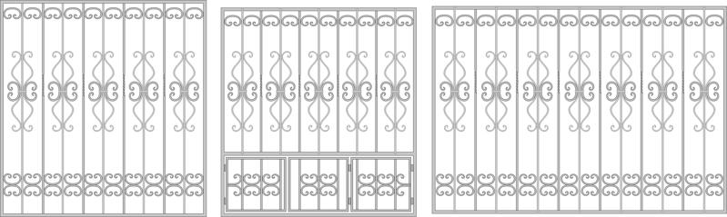Wrought Iron Fence Window Free Vector