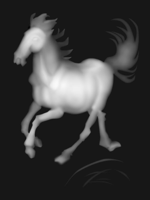 3D Grayscale Horse BMP File