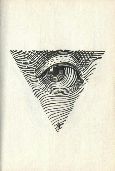 All Seeing Eye dotwork tattoo dxf File