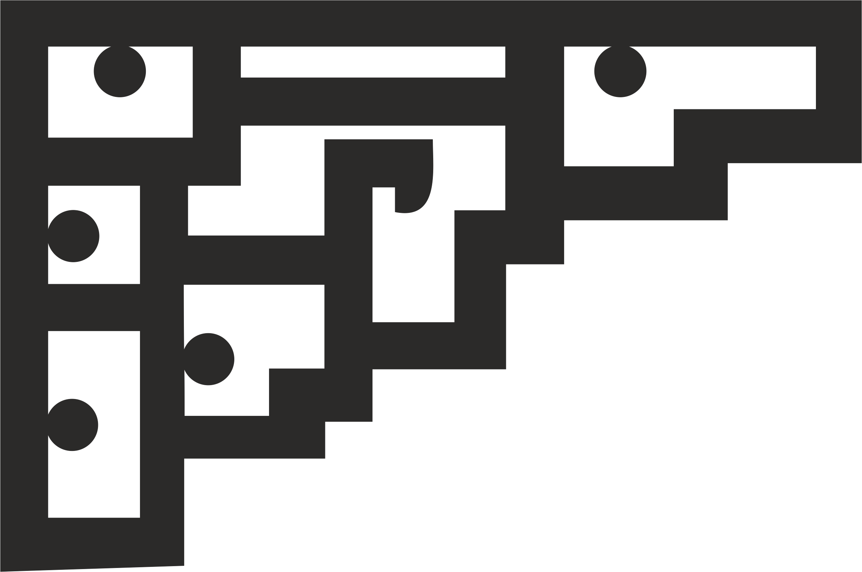 Vector Moldura Cantos dxf File