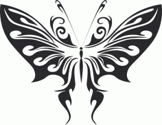 Butterfly Free Vector Art DXF File