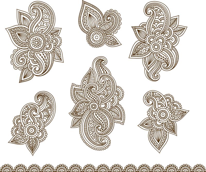 Vector Illustration Of Mehndi Ornament Free Vector