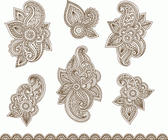 Vector Illustration Of Mehndi Ornament CDR File