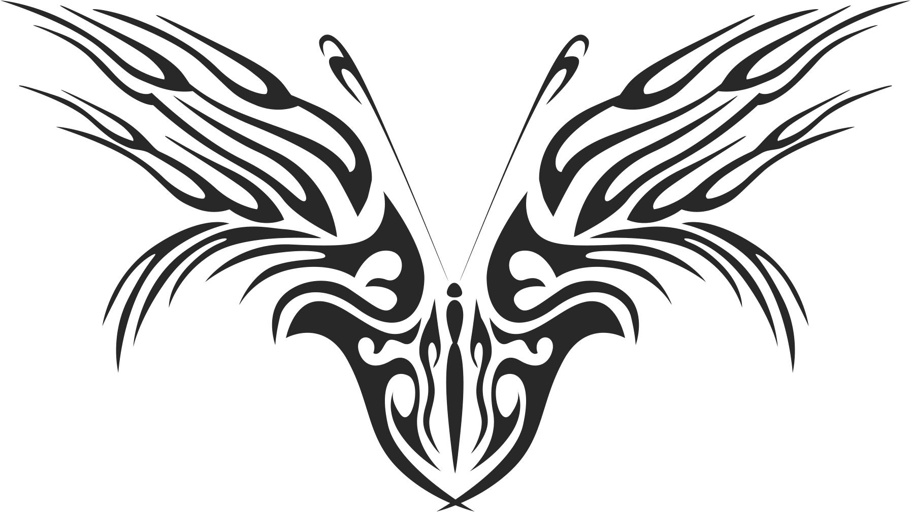 Tribal Butterfly Vector Art 46 DXF File