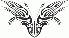 Tribal Butterfly Vector Art 46 DXF File