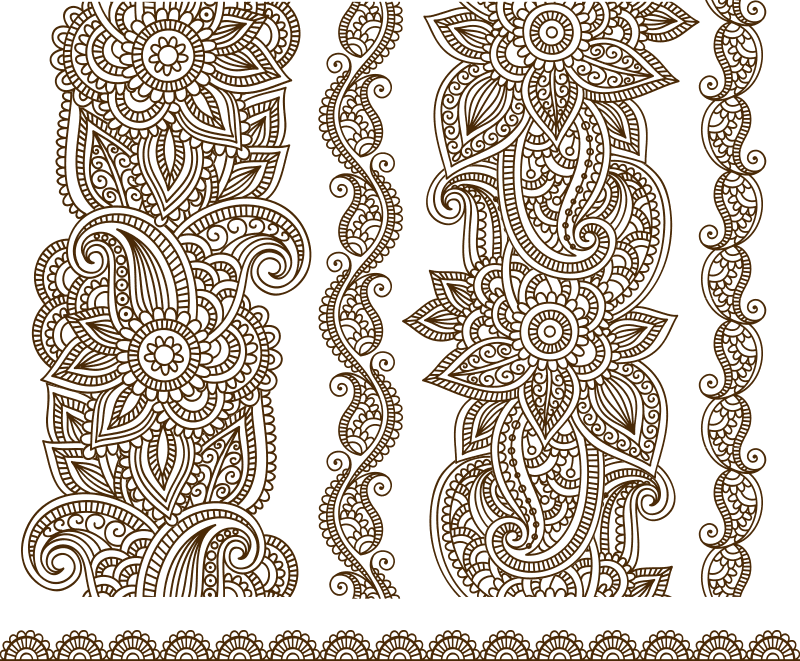 Vector Illustration Of Mehndi Free Vector