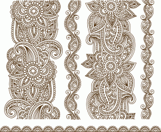 Vector Illustration Of Mehndi CDR File
