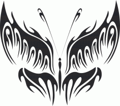 Tribal Butterfly Vector Art 16 DXF File