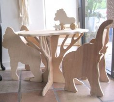 Wooden Animals Plywood Furniture Designs CDR File