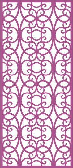 Laser Cut Vector Panel Seamless 174 CDR File