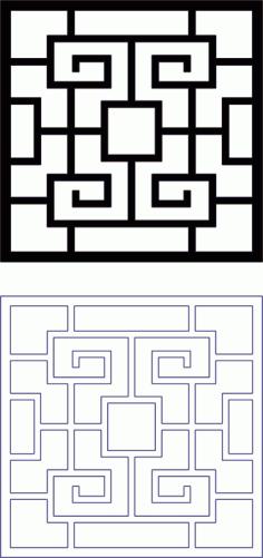 Dxf Design Grille Pattern DXF File