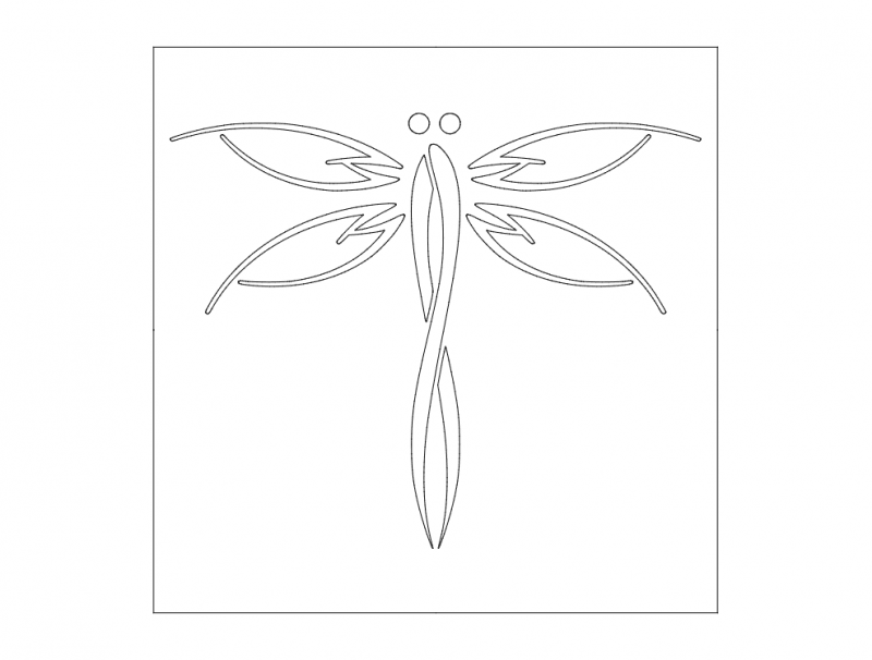 Dragonfly dxf File