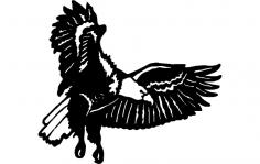 Eagle Flying dxf File