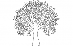 Tree Of Life Outline dxf File