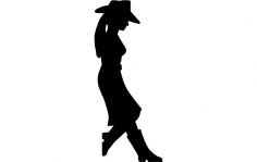 Girl Standing dxf File
