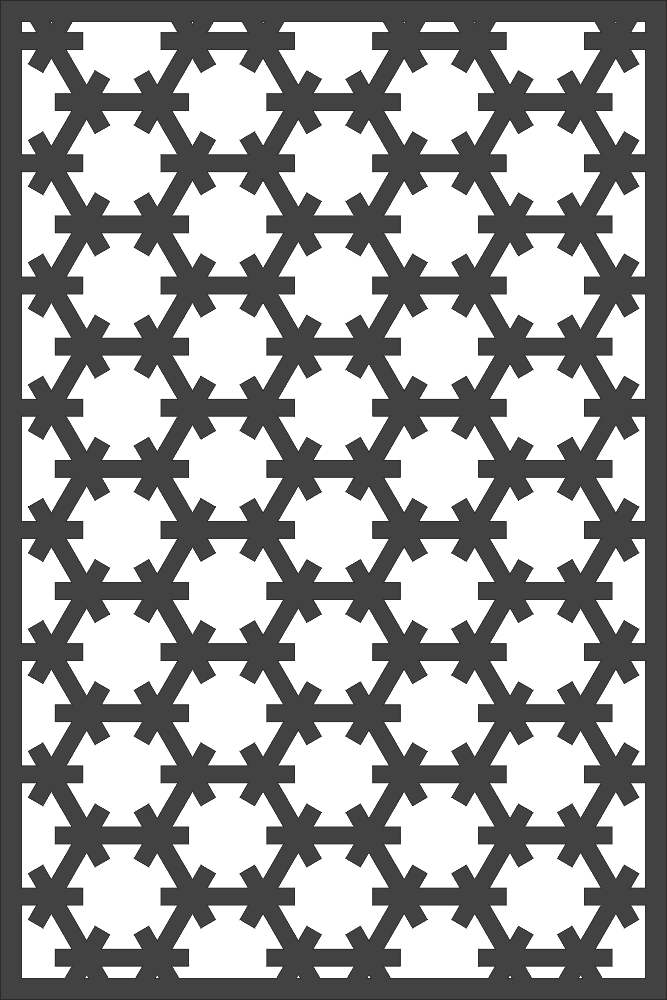 Vector Seamless Hexagon Patern DXF File