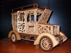 3D Classic Car Puzzle Laser Cut PDF File