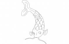 Koi Fish dxf File