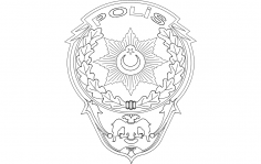 Polis Logo dxf File
