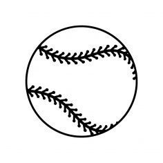 Baseball Ball dxf File