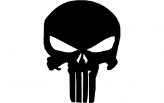 Punisher Skull dxf File