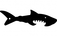 Shark Silhouette Vector dxf File