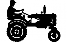 Tractor Silhouette 3 dxf File