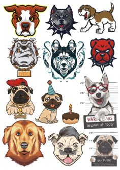 Dogs Vector Set CDR File