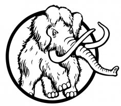 Mammoth Vector Art CDR File
