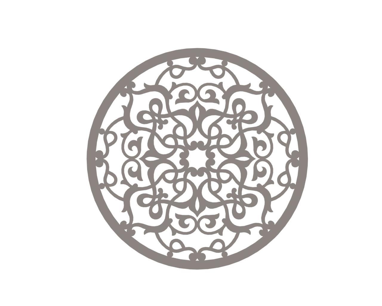 Stylized Vector Mandala Ornament DXF File