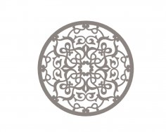 Stylized Vector Mandala Ornament DXF File