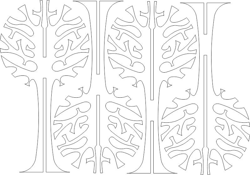 Deco Tree Wall lovi3 DXF File
