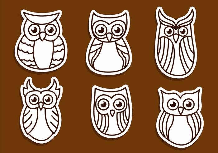 Owl Outline Vectors DXF File