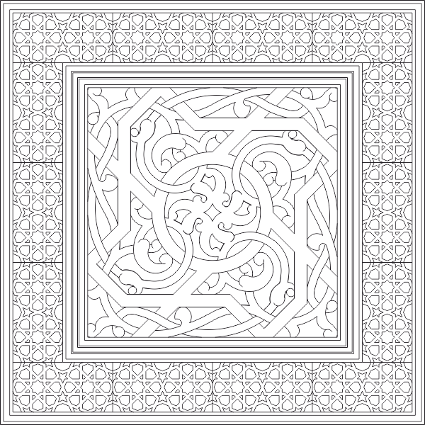 Islamic Ornament Art Vector DWG File