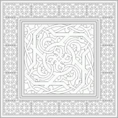 Islamic Ornament Art Vector DWG File
