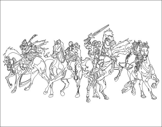 Four Horsemen DXF File
