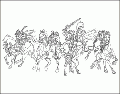 Four Horsemen DXF File