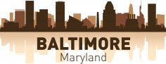 Baltimore Skyline Free Vector