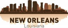 New Orleans Skyline Free Vector