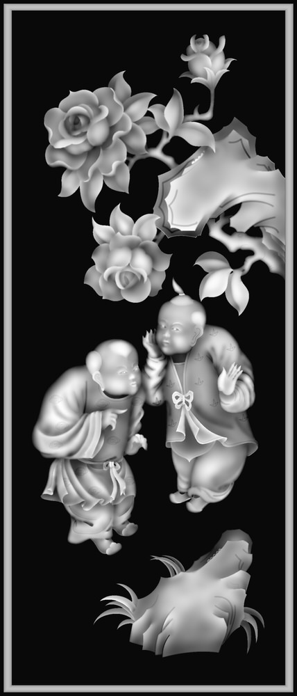 3D Grayscale Image 30 BMP File