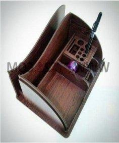 Laser Cut Wooden Desk Organizer PDF File