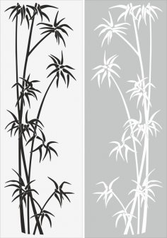 Young Tree Sandblast Pattern Free Vector