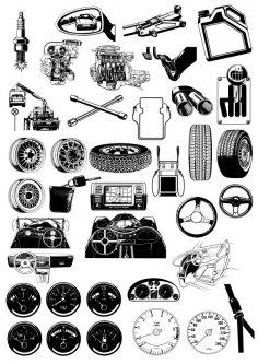 Auto Theme Illustration Vectors