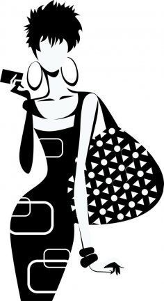 Fashion Girl Silhouette Vector Free Vector