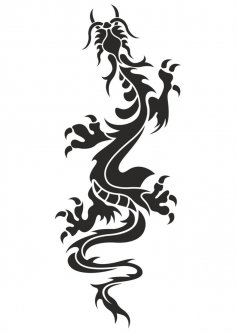 Chinese Dragon Tattoo Vector Free Vector
