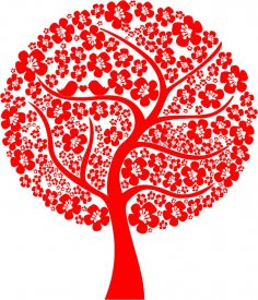 Abstract Love Tree Vector CDR File
