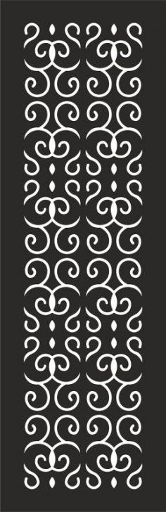Seamless Floral decorative Pattern dxf File