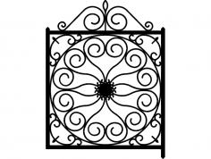Ironwork Gate dxf File